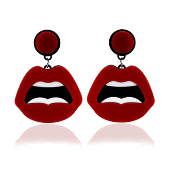 European and American exaggerated cute earrings creative acrylic hip hop funny lips earrings nightclub party gift.jpg 350x350 - European and American exaggerated cute earrings creative acrylic hip hop funny lips earrings nightclub party gift