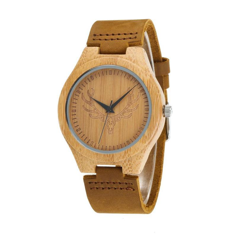 2019 New Amazon Speed Sell Pass Hot Style Leather Strap Quartz Spot Bamboo Watch Manufacturer For Wooden Watches Straight