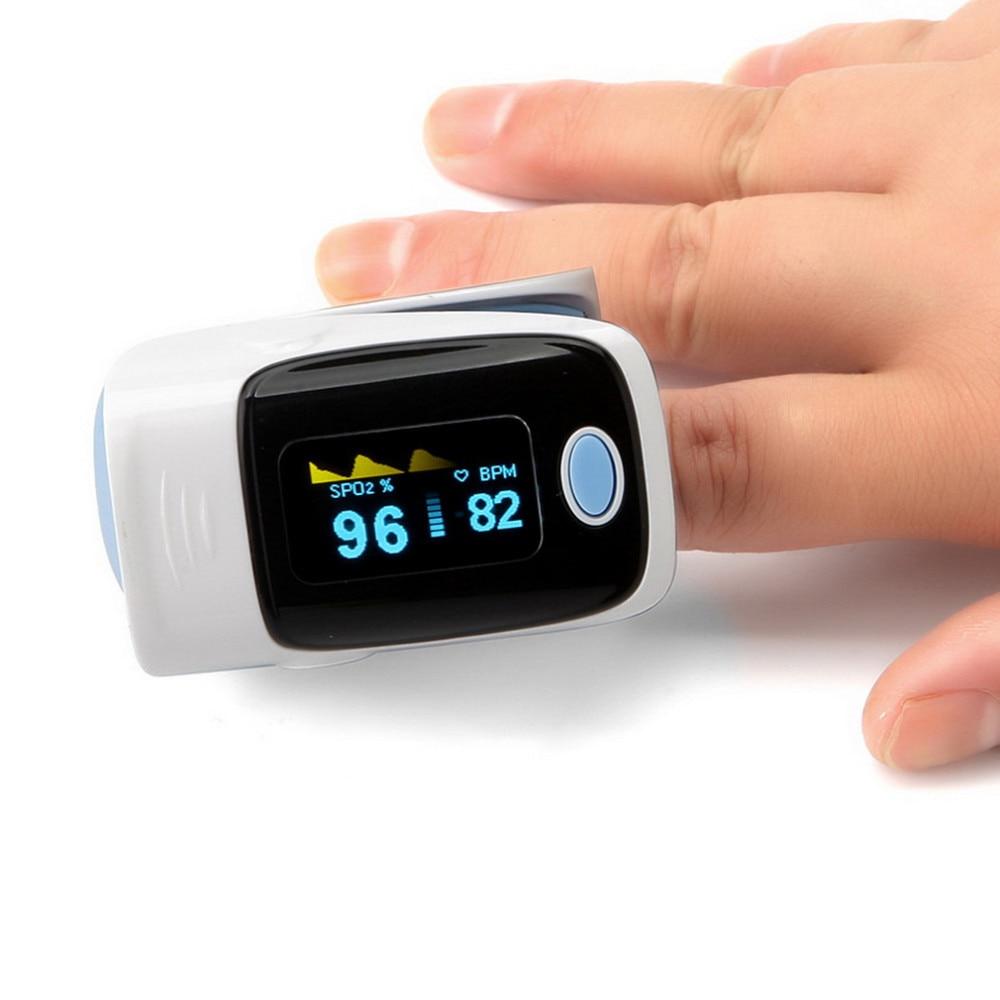 Blood Oximeter Finger Clip Blood Oximeter Finger Pulse Oxygen Saturation Monitor Finger Pulse Oxygen Meter Heart Rate Meter