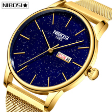 Nibosiカップルの腕時計レロジオfeminino防水男と女性男性2020高級ブランドエレガントな女性の腕時計ステンレス