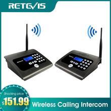 2 個retevis RT57 デュプレックス屋内ワイヤレス通話インターホンシステムビジネス呼び出し装置双方向デスクトップラジオオフィス/ホーム