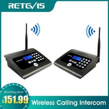 2PCS RETEVIS RT57 Duplex Indoor Wireless Calling Intercom System Business Calling Device Two way Desktop Radio For Office/Home