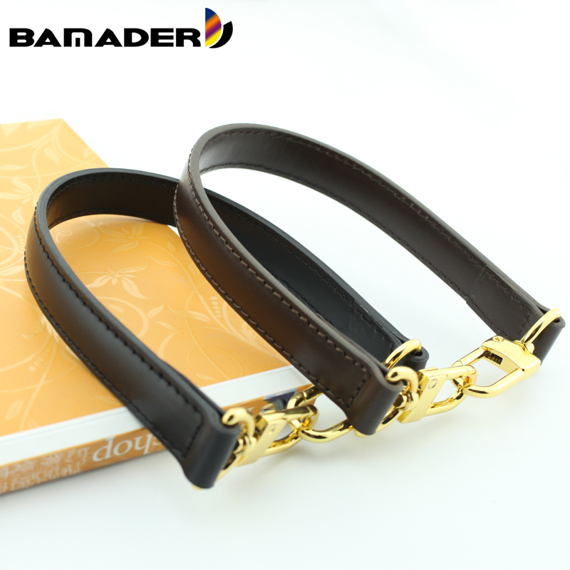 BAMADER Bag Handle Women's Fashion Solid Color Short Shoulder Strap Genuine Leather Bag Strap High Quality Handbag Accessories