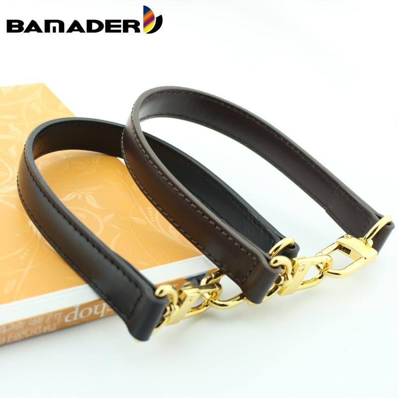BAMADER obag Handle Short Bag Strap Short Shoulder Strap Handbag  strap Genuine Leather Bag belt High Quality Handbag AccessoriesBag  Parts