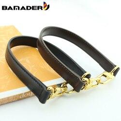 Bolso corto bameder obag con correa, bolso con correa para el hombro, correa de cuero genuino, accesorios de alta calidad para bolso
