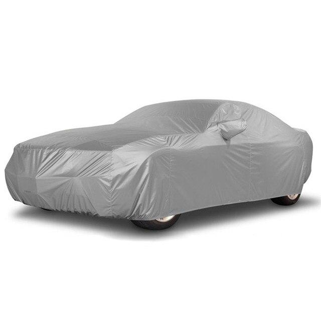 Universal completa carro cobre sol neve sombra dustproof resistente uv protetor capa de automóvel casaco para sedan suv s m l xl xxl d30