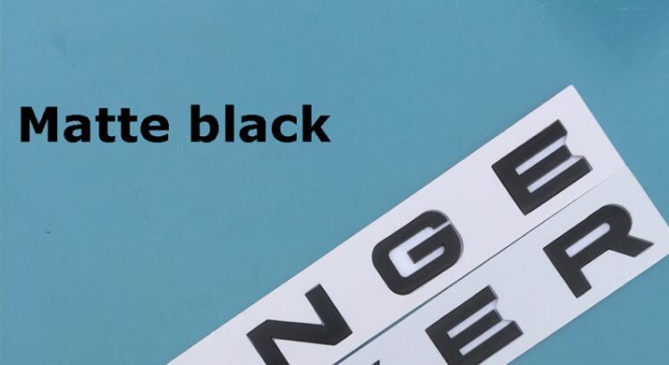 Emblema de ABS cromado en acero plateado mate negro brillante para el maletero del coche