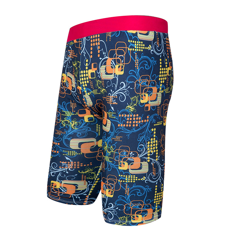 Large Size Sweat-wicking Swimming Trunks Profession Printed MEN'S Fifth Pants Adult Bathing Suit Tight Slim Fit Swimwear Yk088