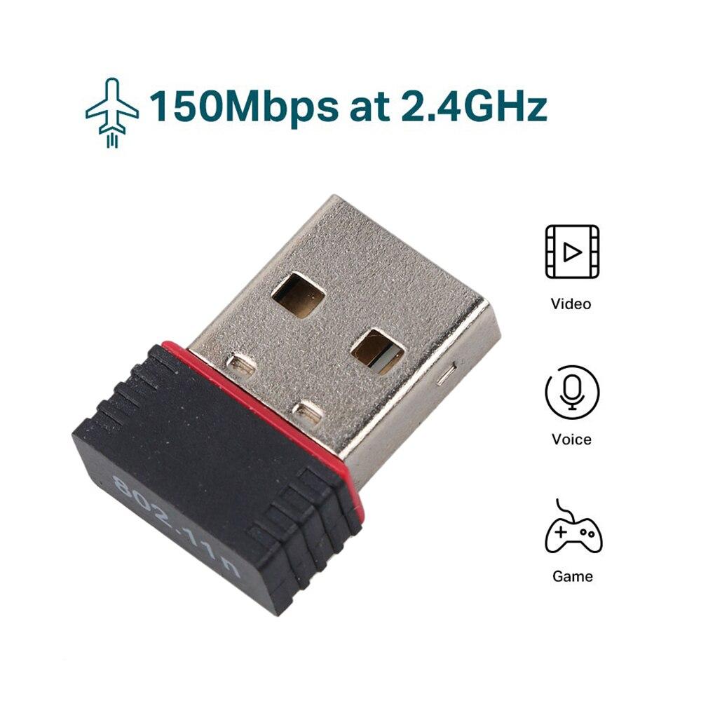 Беспроводной мини-адаптер KEBIDU, USB 2,0, Wi-Fi, 150 м, сетевая LAN-карта, 150 Мбит/с, 802,11 ngb, REALTEK 8188