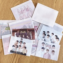 4pcs/set K-POP TWICE Got7 BLACKPINK IZONE SEVENTEENSelf Made Paper Lomo Card Pho