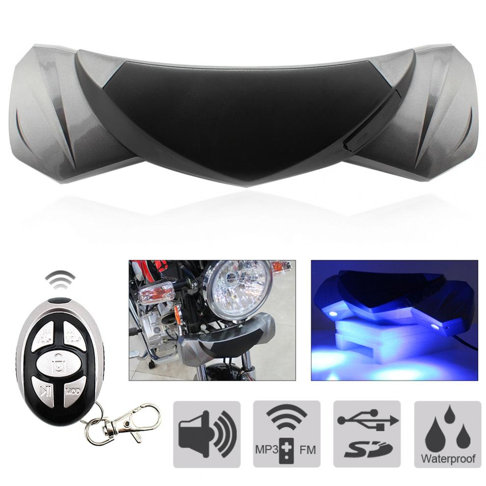 MT482 Waterproof Anti-theft MP3 Speaker Support TF / USB Card For Motorcycle
