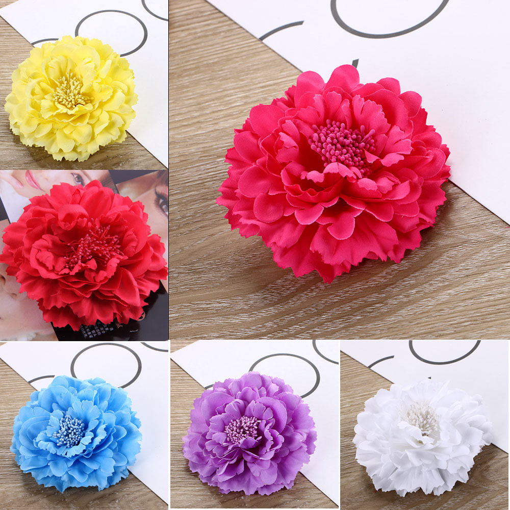 Flower Headwear Flower Corsage Women Brooch Pins Wedding Party Gift Fabric Flower Popular Style 1PCS Hair Clips hair accessories