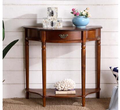 Table de porche américain table de porche européenne canapé arrière quelques salles américain en bois massif semi-circulaire porche porche armoire