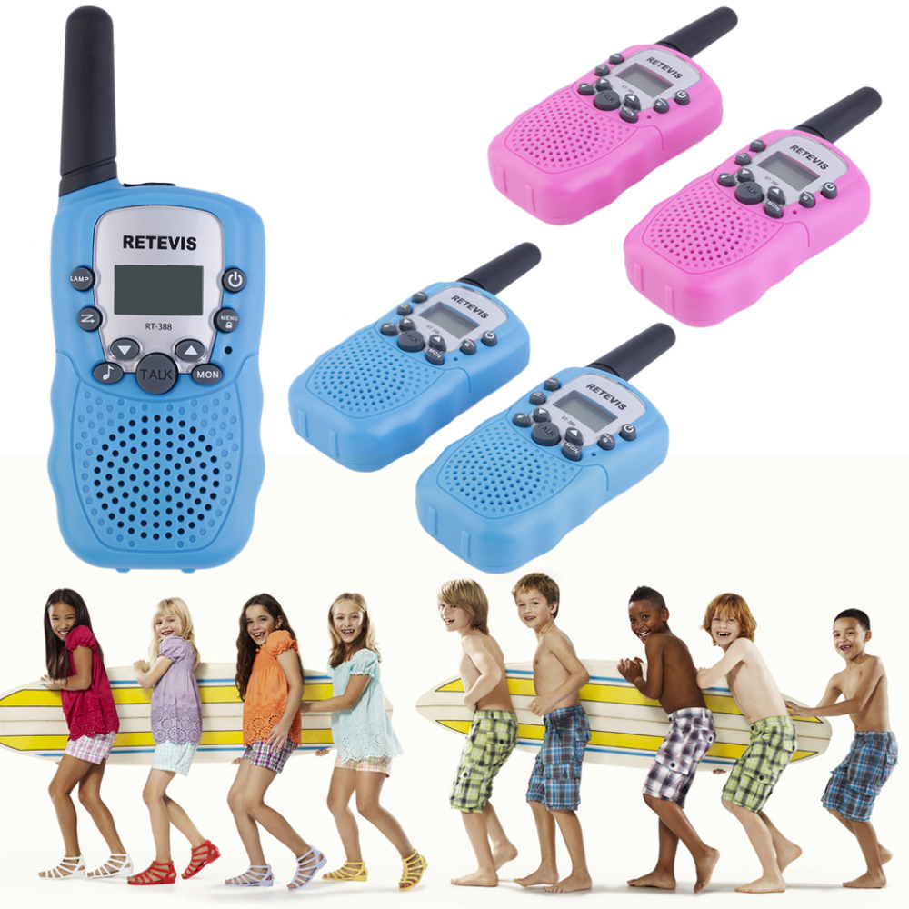 YKS 2 Pcs RT-388 Walkie Talkie Toys For Children 0.5W 22CH Two Way Kids Radio Boys And Girls Brithday Xmas Gift