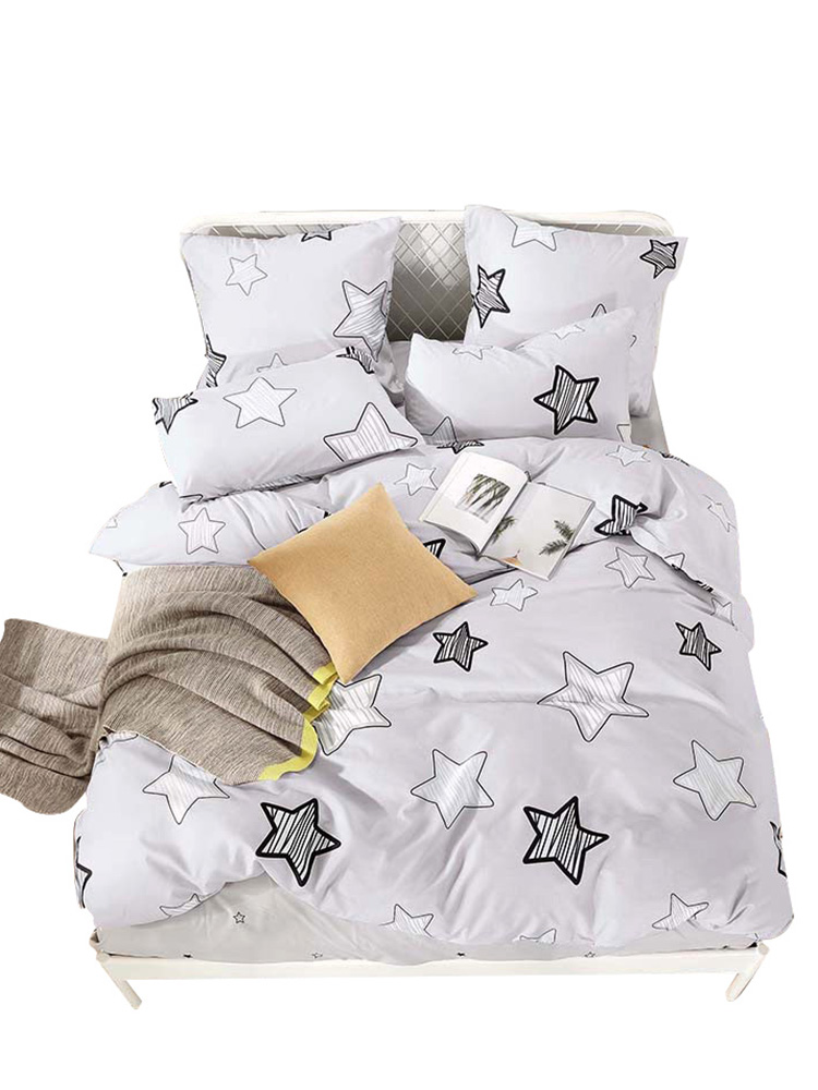 Quilt-Cover Bedding-Set Pillowcase Bed-Sheet Double-Sided-Pattern Cartoon Pure-Cotton