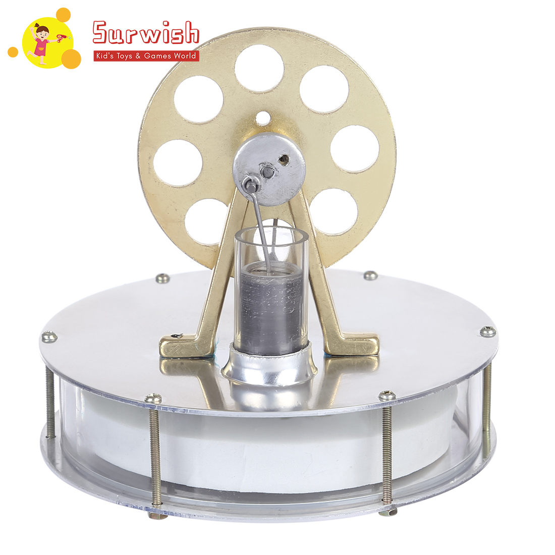 Stirling Low Temperature Engine Motor Steam Heat Education Model Toy