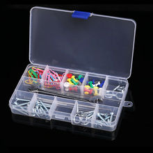 15 Movable Grid 17cm Clear Jewelry Storage Case Beads Earrings Container Necklace Bracelet Package Women Jewelry Organize Box