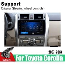 ZaiXi Android Car GPS Multimedia Player For Toyota Corolla E140 E150 2007~2013 car Navigation radio Video Audio Car Player for 11 13 e140 toyota corolla s 10