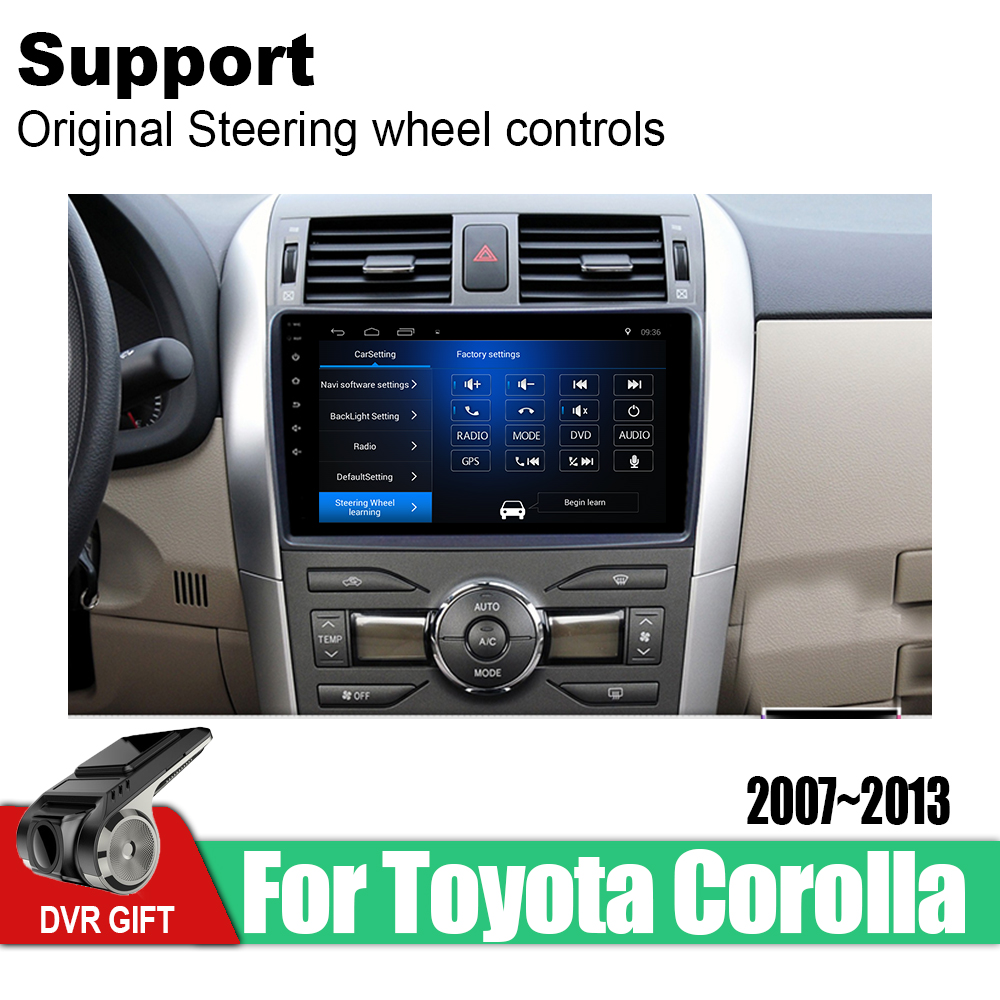 ZaiXi Android Car GPS Multimedia Player For <font><b>Toyota</b></font> <font><b>Corolla</b></font> E140 <font><b>E150</b></font> 2007~2013 car Navigation radio Video Audio Car Player image