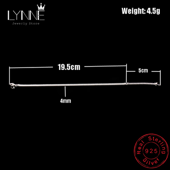 New Arrival Anklet 925 Sterling Ladies Silver Anklets Bracelet Flat Snake Chain For Women Foot Jewelry Barefoot Sandals Anklets 3