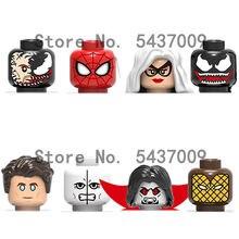 X0220 продажа персонажей из серии фильмов аксессуары для головы строительные блоки подвижные куклы детские игрушки подарок Минифигурки Игру...