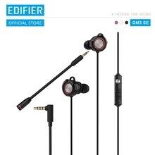 Edifier gm3se gaming headset dupla microfones de ouvido duplo movimento bobinas posicionamento acústico preciso arco em forma earwings fone ouvido