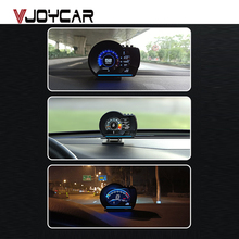 Vjoycar V60 Neueste Auf-board Computer HUD OBD2 Head Up Display GPS Tacho 9 interface display Turbo Kühlmittel Temp OBD Scanner
