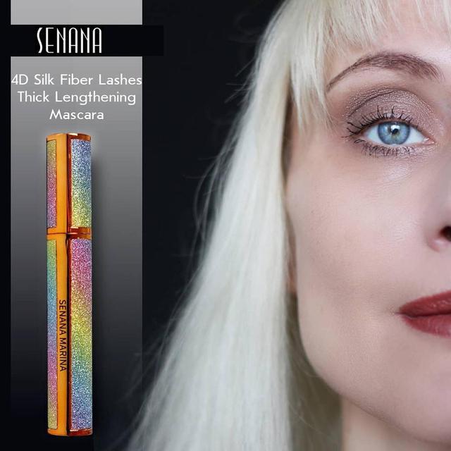 SENANA 4D Silk Fiber Lashes Thick Lengthening Mascara Long Black Lash Eyelash Extension Eye Lashes Brush Makeup Eye Cosmetics 2