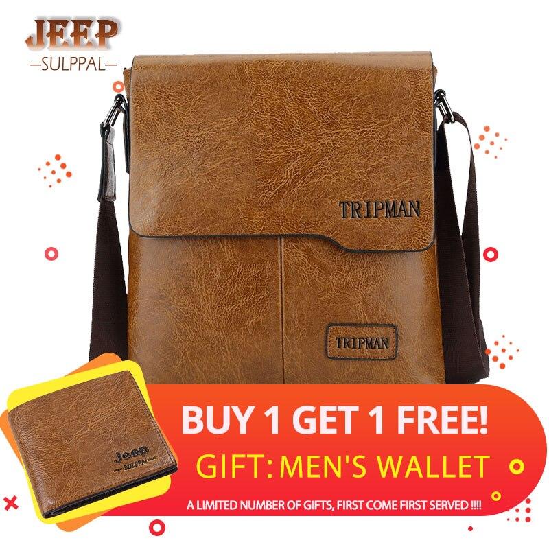 2019 JEEP Sulppai oferta especial mensageiro saco de couro crossbody bolsa de Ombro Bolsa de negócios de moda maleta KSL525M