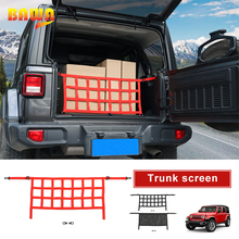 BAWA Car Covers Multifunction Trunk Cargo Screen Storage Net Cover Accessories For Jeep Wrangler JL 2018+