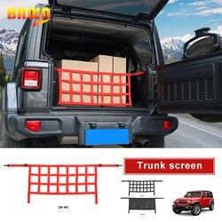 BAWA pokrowce samochodowe wielofunkcyjny bagażnik Cargo ekran przechowywania pokrywa z siatki akcesoria dla Jeep Wrangler JL 2018 +