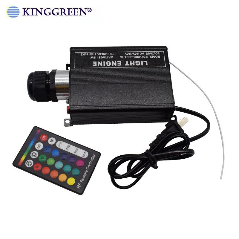 1X Ad Alta Luminosità RGB illuminazione a LED 16W fibra ottica luce del motore con 24key RF remote controller spedizione gratuita