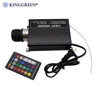 1x alto brilho rgb led iluminação 16 w motor de luz fibra óptica com 24key rf controle remoto frete grátis|Luzes de fibra óptica| |  -
