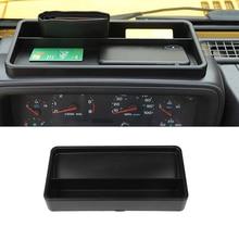 for Jeep Wrangler TJ 1997 2006 Front Dashboard / Gear Shift Tray Storage Box Container Organizer Car Interior Accessory Black
