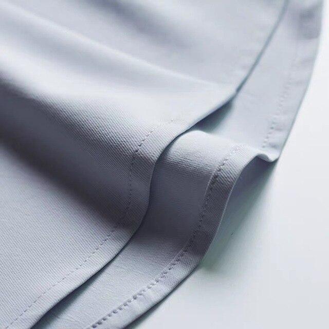 2020 Summer Women Chiffon Blouse New Fashion Female Long Sleeve Casual Soild Thin Shirt V-neck Blouses Pullover Tops 6