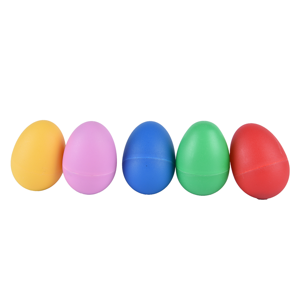 5pcs Plastic Sand Eggs Shaker Percussion Musical Instruments Toys Early Education For Children Kids