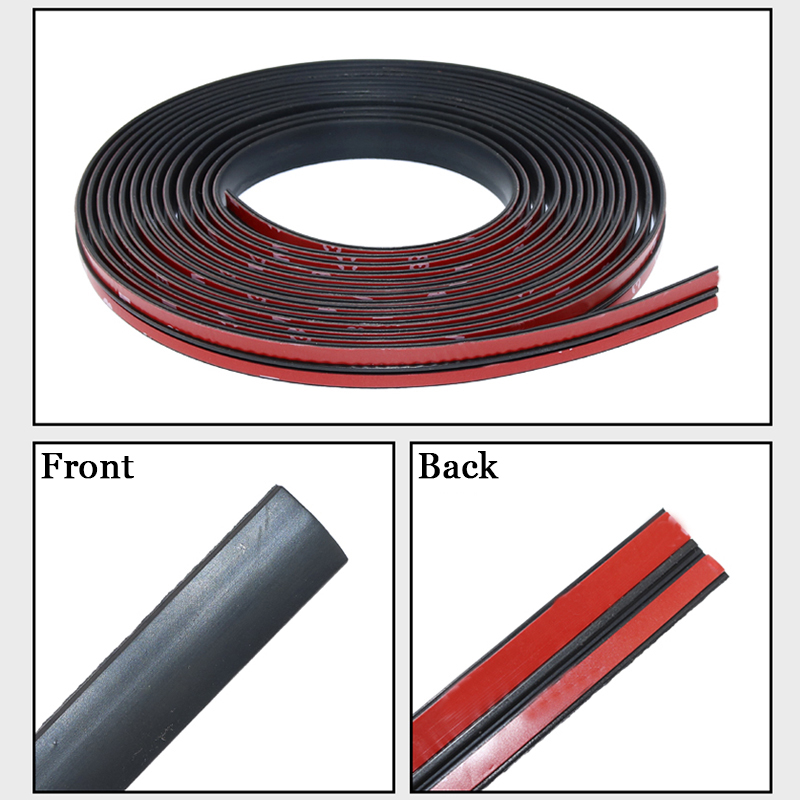 Car Seal Strips Front Rear Windshield Seal Protection Door Edge Windshield Roof Sealing Strip Noise Insulation Rubber Stickers