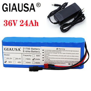 36v battery pack 24AH 21700 pack for Scooter powerful Electric bicycle 21700 36v lithium battery Built-in 15ABMS with 2a charger(China)