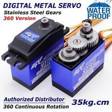 Caixa de metal para veículos rc com rotação contínua, SPT5535LV-360, 35kg, caixa de engrenagem padrão digital servo 360, rotação para rc braço