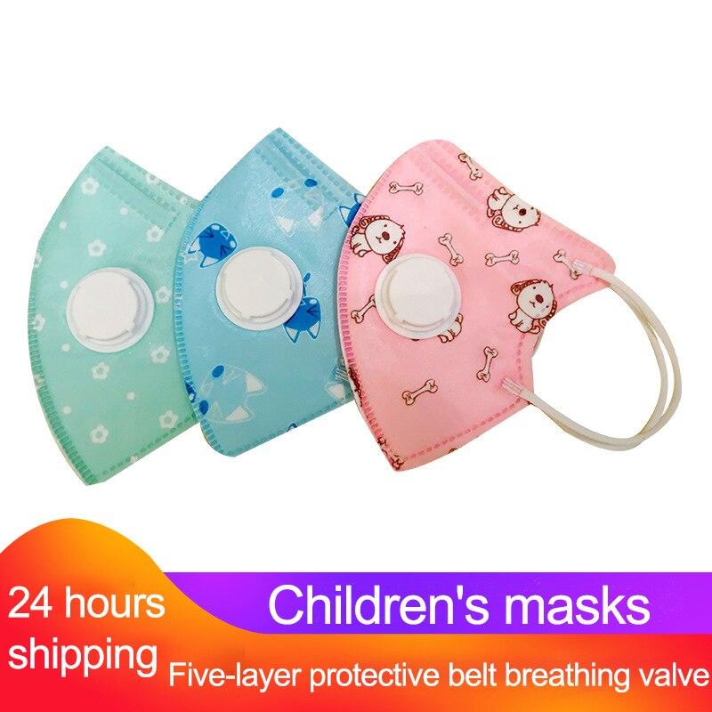 Kids Mouth Mask Cartoon PM2.5 Children Breath Valve Anti Haze Breathable Mask Anti Dust N95 Meltblown Cloth Protective Mask