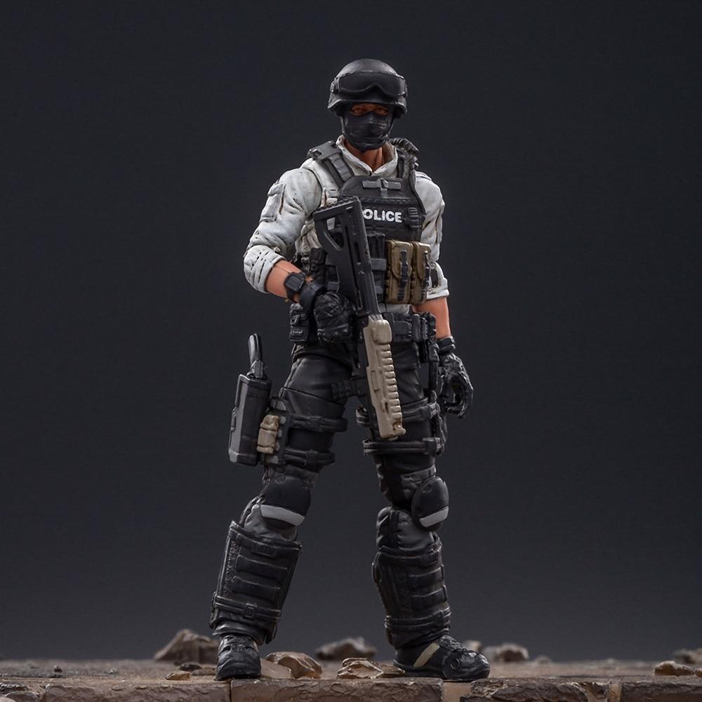 1/18 JOYTOY Action Figure Action City Polic Men Soldier Figures Collectible Toy Military Model Auction Captain America