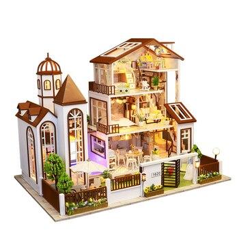 Casa De muñecas De alta calidad DIY, muebles De gran tamaño, Casa De muñecas De madera, Casa De muñecas moderna, juguetes De regalo para niños OO50WW