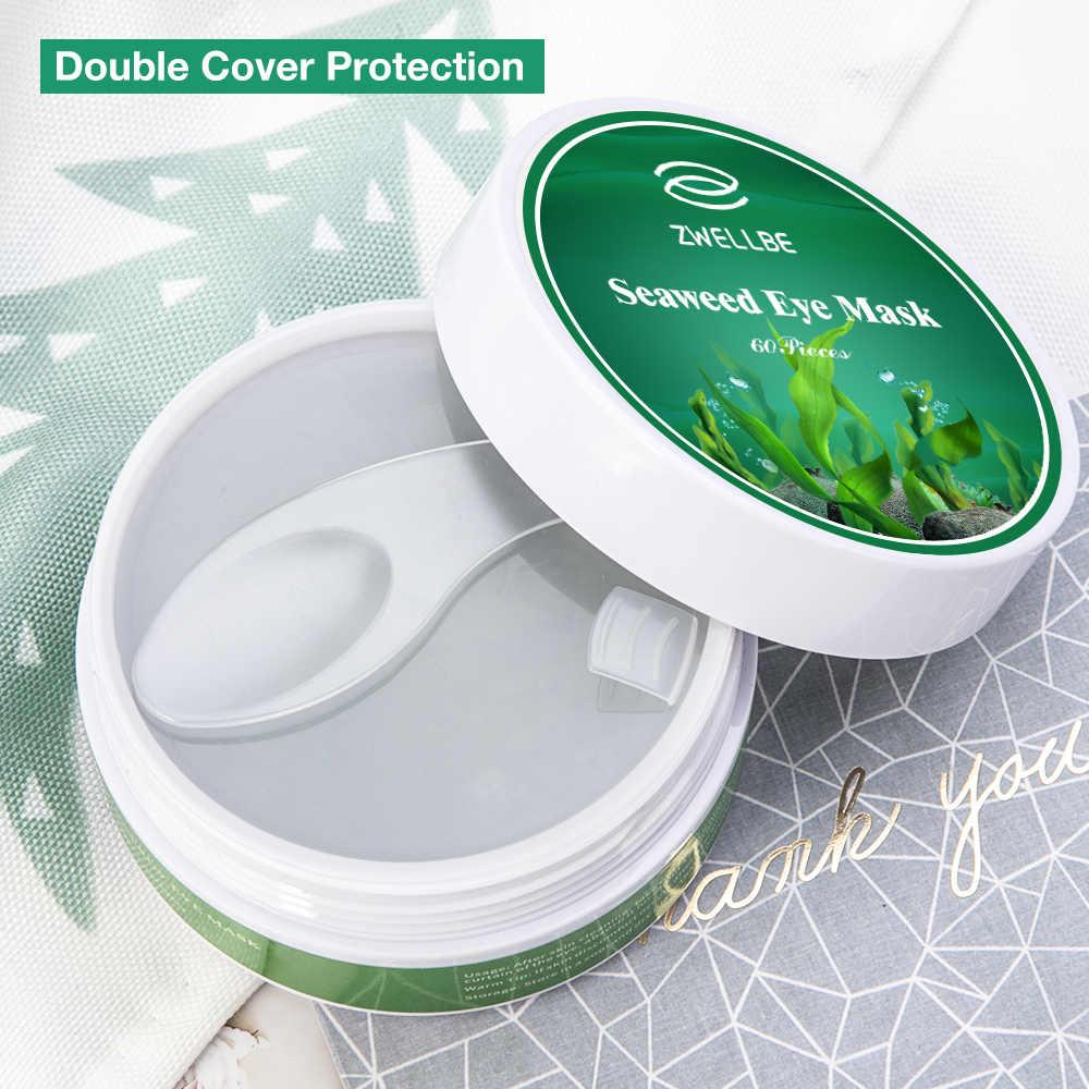 Rumput Laut Masker Mata Crystal Collagen Gel Mata Patch 60Pcs Perawatan Mata Tidur Masker Penghilang Lingkaran Hitam Anti Age Mata kerut