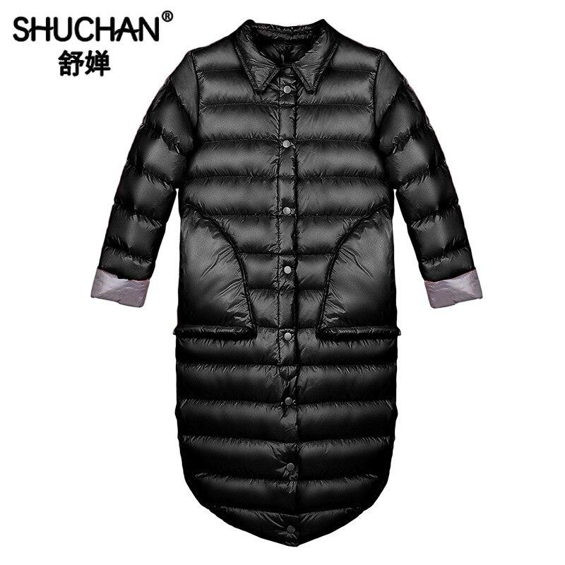 Shuchan Designer Winter   Down   Jacket Women 2019 High Quality Korean Fashion Women   Down     Coats   Jackets Warm Woman   Down   Parka