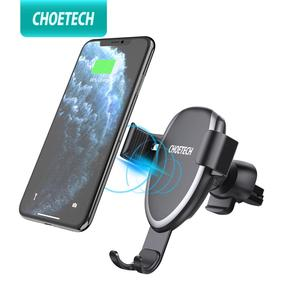CHOETECH Qi Wireless Car Charger Phone Holder For iPhone Xs Max Xr 8 Plus Phone Fast Car Mount Wireless Charging For Samsung S9