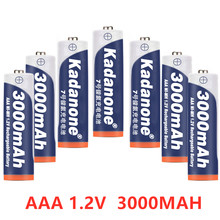 Kedanone AAA 3000mAh 1.2v Ni-MH Rechargeable Battery for torch Toys Toys Camera Microphone etc(China)