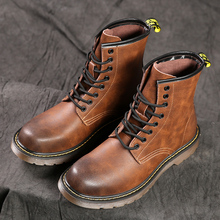 High Quality British Men Boots Spring Autumn Winter Shoes Men Fashion Lace-up Boots Leather Male Botas Vintage Men Shoes Boots men shoes genuine leather casual shoes men british fashion lace up men boots for male zapatos spring autumn size 39 43