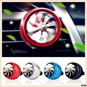 car Perfume Air Freshener Mini Fan Auto Air Vent Clip for Ford Shelby SYNus King GTX1 Freestyle Fairlane Equator BA image