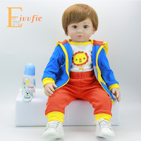 Rebron bebe 55 silicone realistic bebe regeneration doll boy girl toy surprise children's day gift Reborn boncas