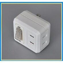 Высокое качество, японская розетка питания, портативный адаптер для путешествий, зарядное устройство, два плоских штекера, мини конверсионная розетка с переключателем